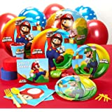Super Mario Bros Party Supplies - Standard Party Pack for 16