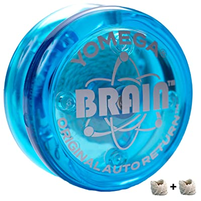 Yomega The Original Brain - Professional Yoyo for Kids and Beginners, Responsive Auto Return Yo Yo Best for String Tricks + Extra 2 Strings & 3 Month Warranty (Blue): Toys & Games