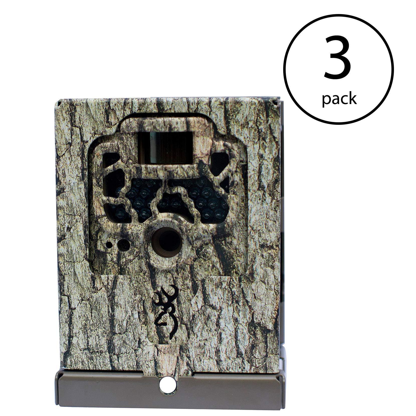 Browning Trail Cameras Locking Security Box Case for Game Cameras, Camo   BTC-SB (3 Pack)