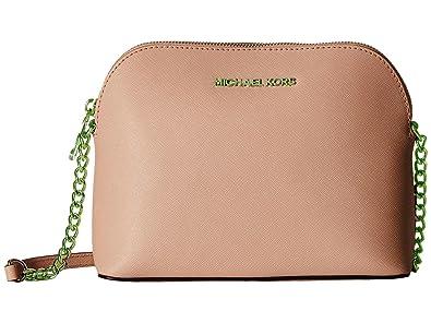 b48b708556a0 Michael Kors Cindy Leather Large Dome Crossbody Ballet: Handbags ...
