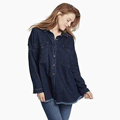 6370f3d6f48 Amazon.com  Ella Moss Women s Box Button Down Shirt