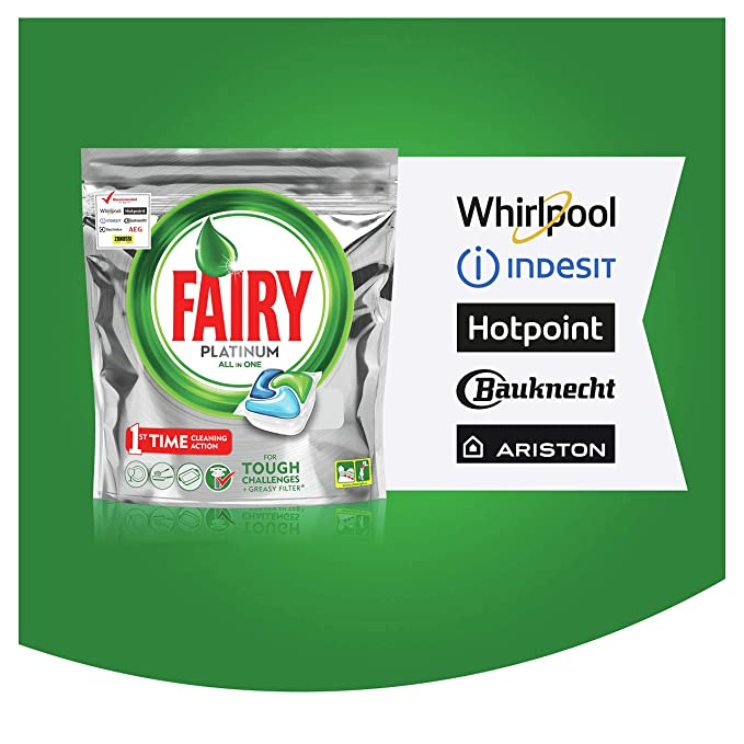 Fairy – Platinum Todo en Uno Lavavajillas 120 Tablets (5x24 pack)