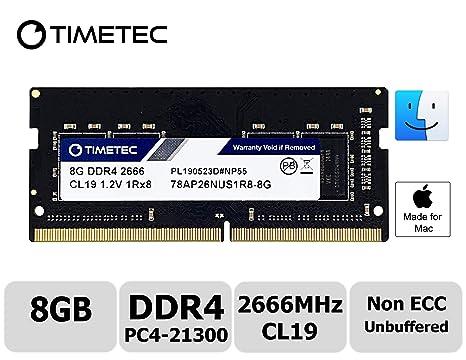Timetec Hynix IC 8GB Compatible for Apple 2019 iMac 27-inch w/Retina 5K  Display, Late 2018 Mac Mini DDR4 2666MHz PC4-21300 1Rx8 CL19 1 2V SODIMM