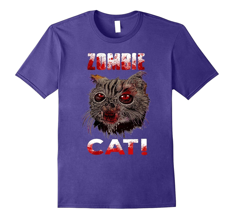 Zombie Cat T-shirt Funny cat halloween-BN