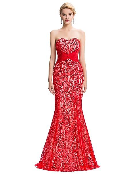 Quissmoda vestido corto largo fiesta, noche, gala, talla 34, color rojo