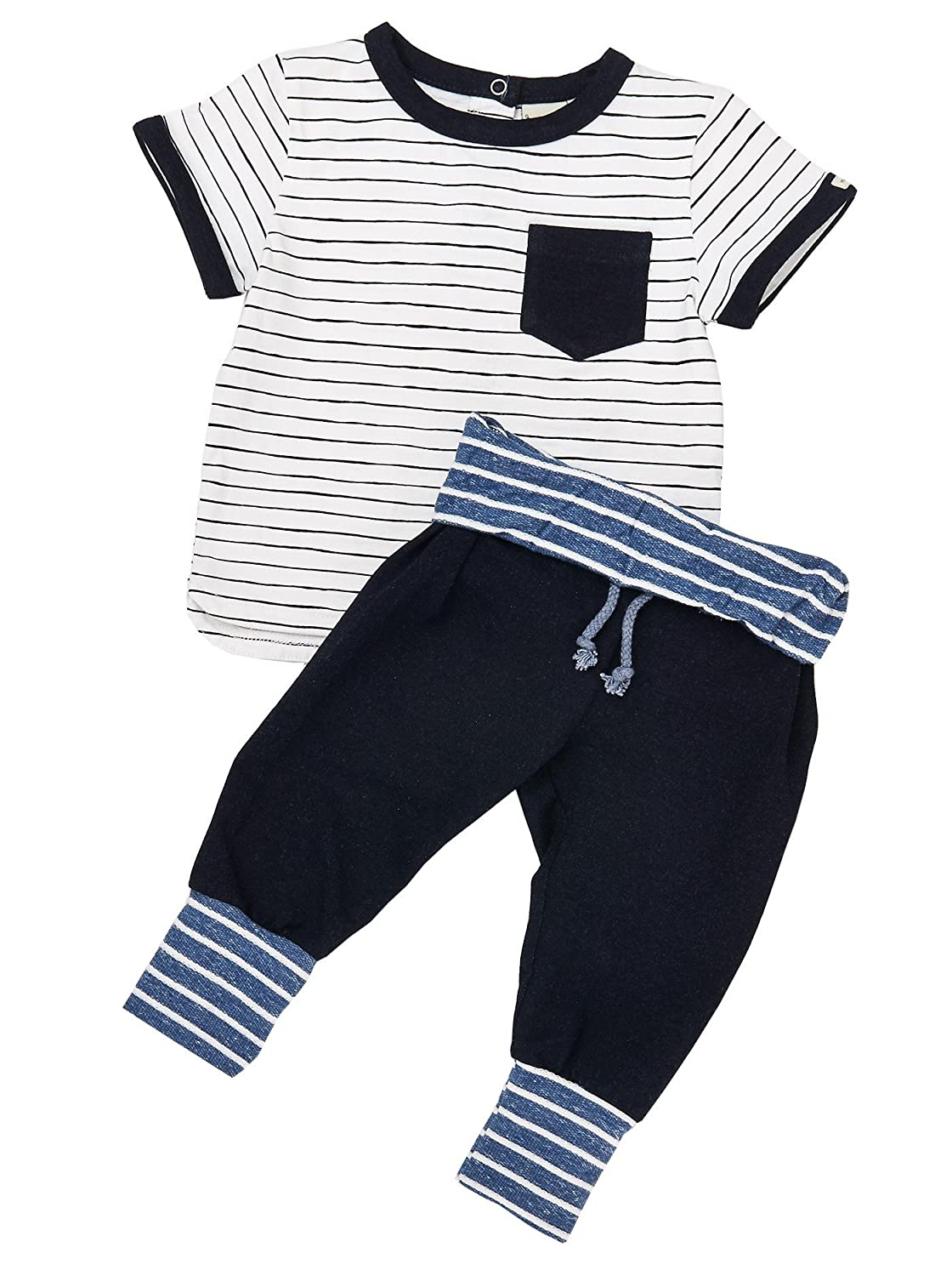 Boys 2 Piece Short Sleeve T-Shirt and Jogger Pant Set