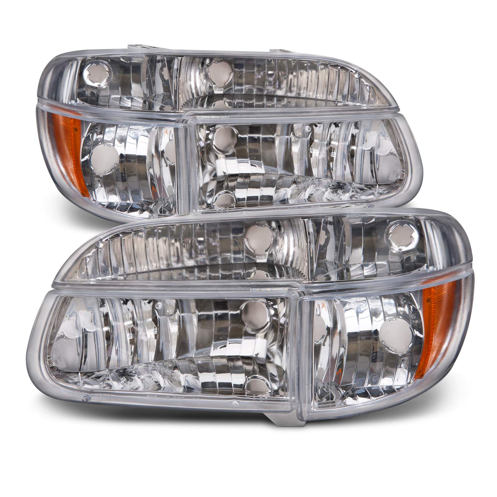 HEADLIGHTSDEPOT Compatible with Holiday Rambler Endeavor 1998-2001 Motorhome RV Front Headlight Set