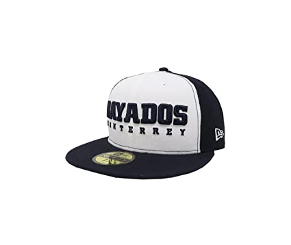 NEW ERA 59Fifty Hat Rayados De Monterrey Liga Mexicana White/Navy Blue Fitted Cap (