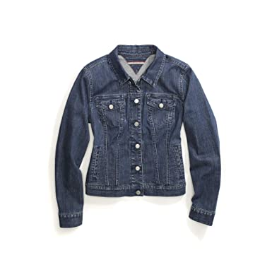 a460ed546 Tommy Hilfiger Women's Adaptive Jean Jacket with Magnetic Buttons, Medium  wash X-Small