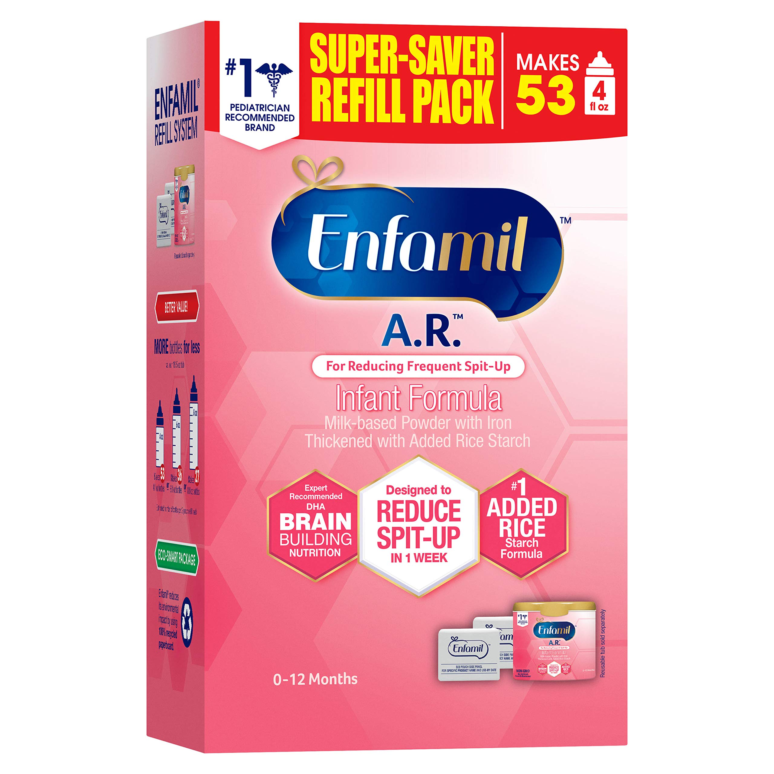 Enfamil A.R. Infant Formula Clinically Proven to reduce Spit-Up in 1 week, 30.4 oz