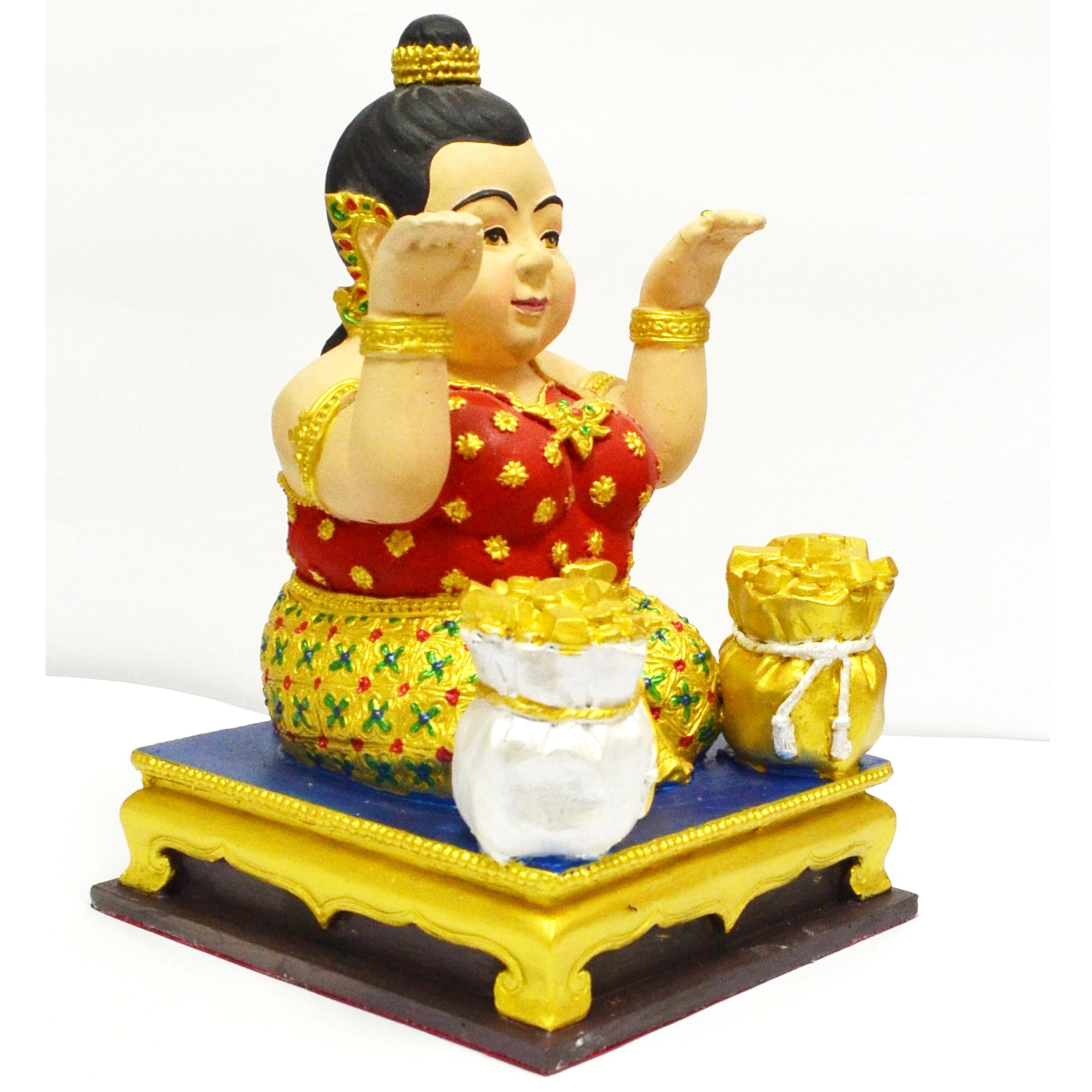 Lucky Home Jewelry Amulets Arjarn Naankong Buetifull Lovely Lucky Magic Business Trader MaeNang Kwak statue by amulet city (Image #3)