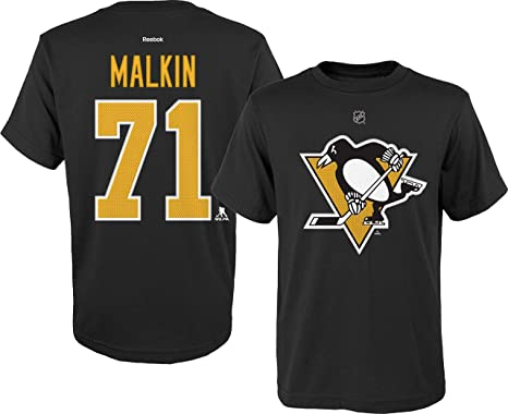 watch 4619f 73146 Evgeni Malkin Pittsburgh Penguins #71 Black Yellow Home Youth Name And  Number T Shirt