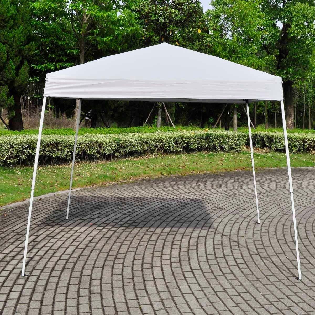 amazoncom strong camel ez pop up wedding party tent folding gazebo beach canopy wcarry bagwhite sports fan canopies garden u0026 outdoor