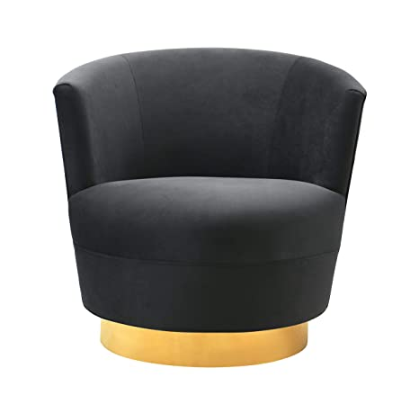 Pleasant Tov Furniture Tov S7229 The Noah Collection Modern Velvet Swivel Accent Chair Black Evergreenethics Interior Chair Design Evergreenethicsorg