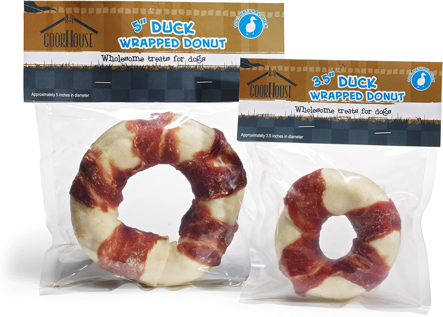 """Dog 100/% Natural Chicken Wrapped Donut K9 Cookhouse 3.5/"""" Wholesome Chew Chews"""