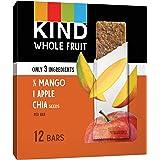 KIND, Whole Fruit Bars Gluten Free No Sugar Added 1.2oz, Mango Apple Chia, 12 Count