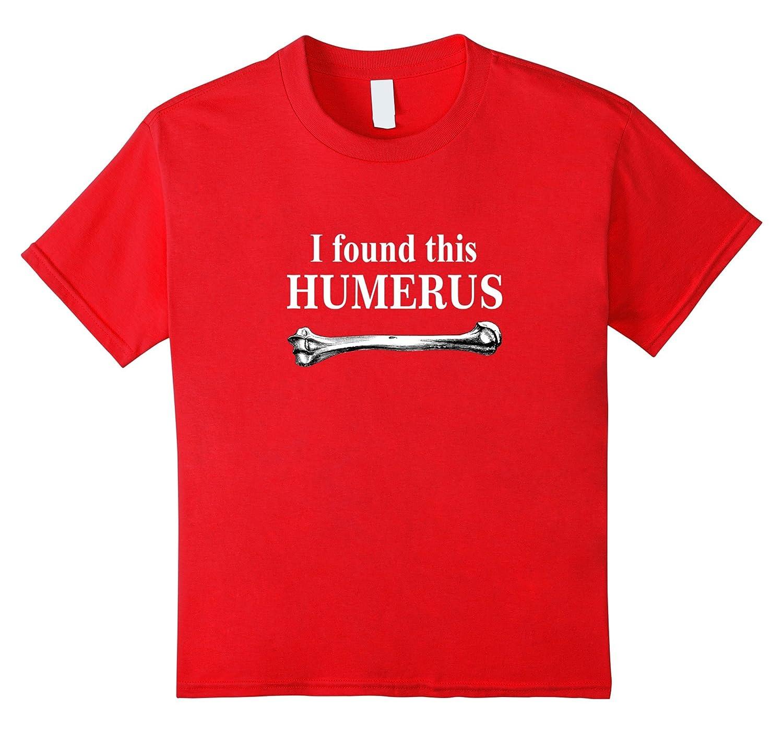 Womens Humerus T Shirt anatomy Asphalt-Xalozy