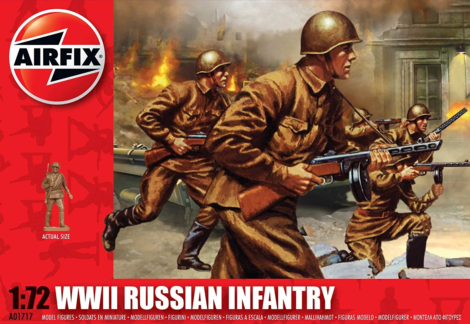 Airfix A01717 WWII Russian Infantry Building Kit 1:72 Scale