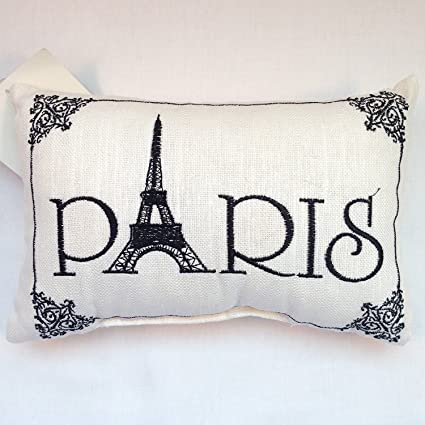 Amazon 'Paris' SmallCute Embroidered ACCENT 'Pillow' 40 4040 Impressive Paris Themed Decorative Pillows