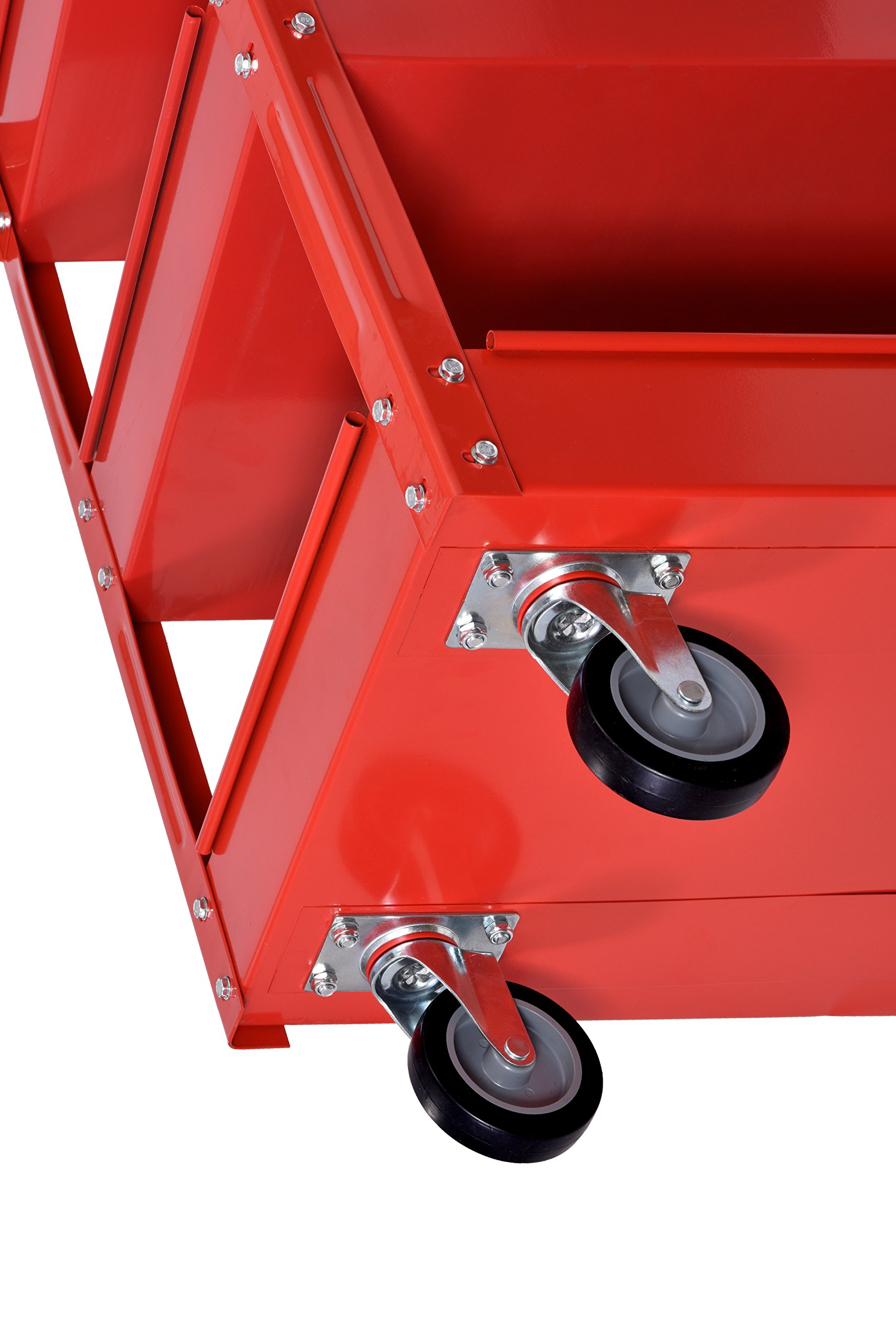 Muscle Carts SC3216-RED Teel Industrial Commercial Service Cart, 220 lb. by Muscle Carts (Image #5)