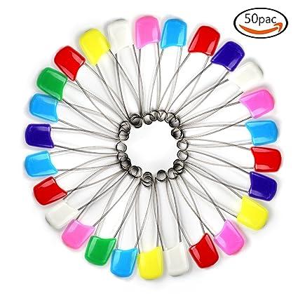 Goodlucky365 50pcs Multi-colores Alfileres de Gancho Imperdibles Para el Pañal de los Bebes y