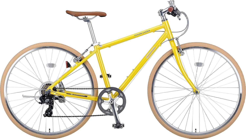 キャプテンスタッグ(CAPTAIN STAG) クロスバイク 700C シマノ7段変速 カラーショワ B07213YJB1 イエロー イエロー