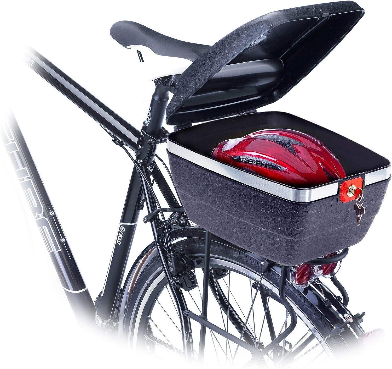 Racktime Tour Box abschließbarer Fahrradkoffer schwarz Fahrrad