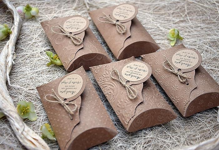 Amazon Rustic Gift Favor Boxes Rustic Wedding Favor Pillow