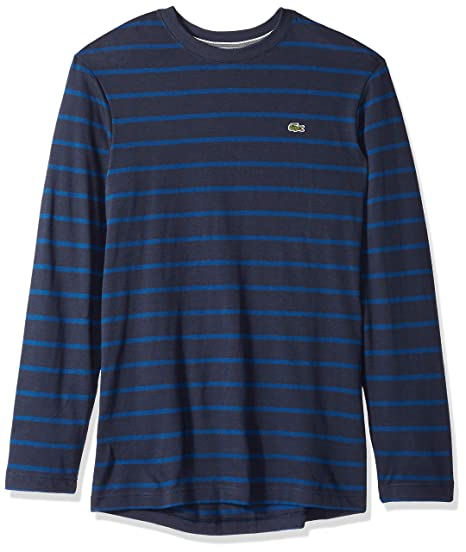 96a368ac Lacoste Men's Long Sleeve Reg Fit Striped Tee | Amazon.com