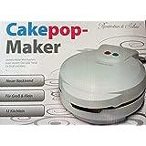 Rosenstein & Söhne Cake Pop Maker: Cakepop-Maker für 12 leckere Miniküchlein pro Durchgang, 750 Watt (Popcake Maker)