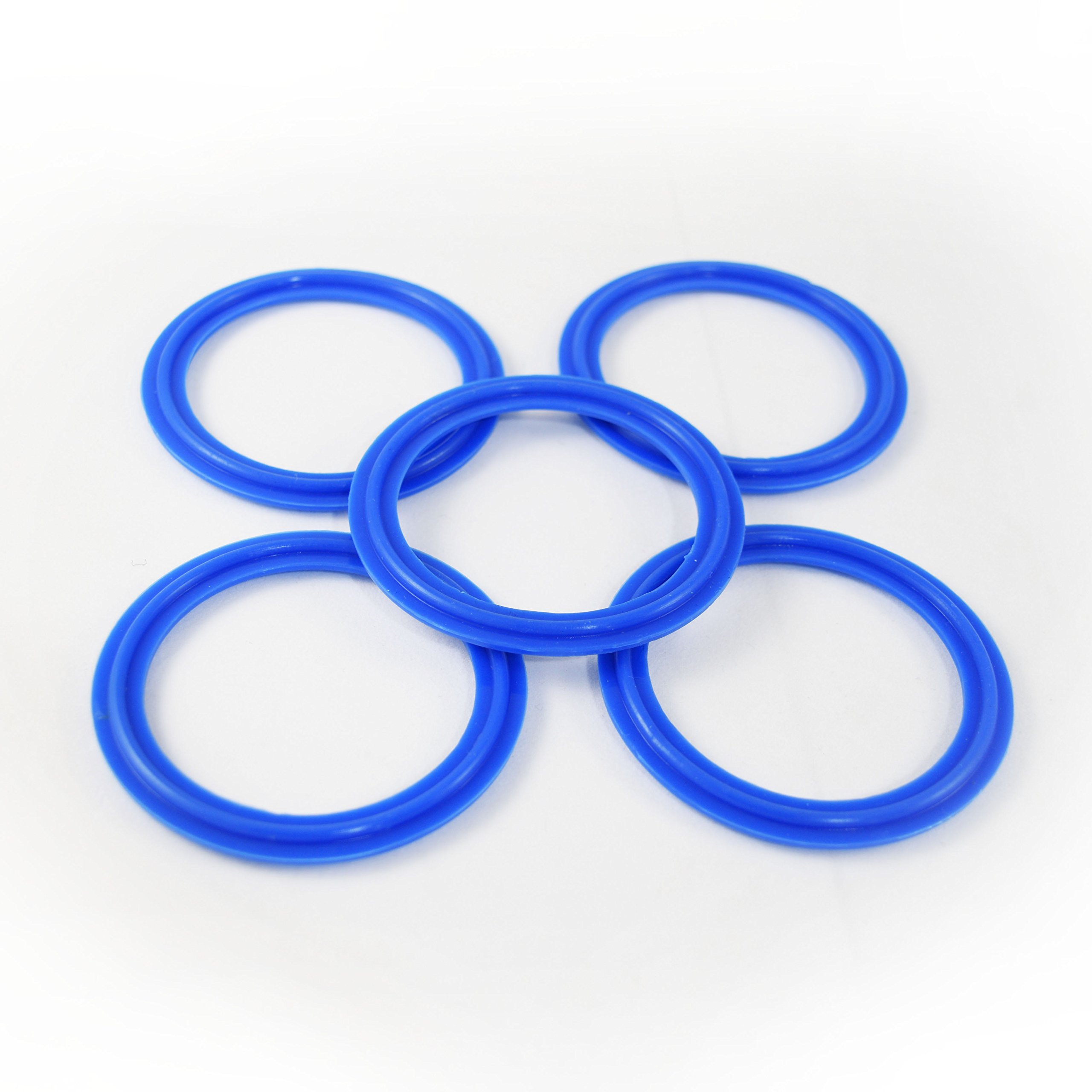 2'' Tri Clamp Artesian Silicone Gasket (Blue) Package of (5) Pharmaceutical & Food Grade Highly Identifiable! FDA Certified & Material Tested by ARTESIAN SYSTEMS