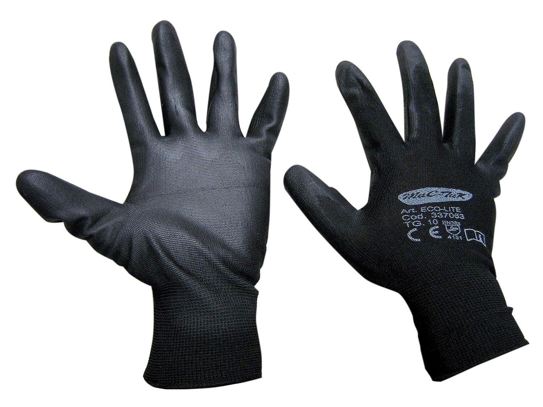 Handschuhe NY.Schwarz Handfläche poliu, TG7