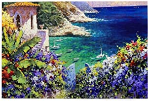 Jigsaw Puzzles for Adults,Glorious Garden Provence Landscape Jigsaw Puzzles Educational Game Gift 1000 Pieces for Kids Adults Family Puzzles