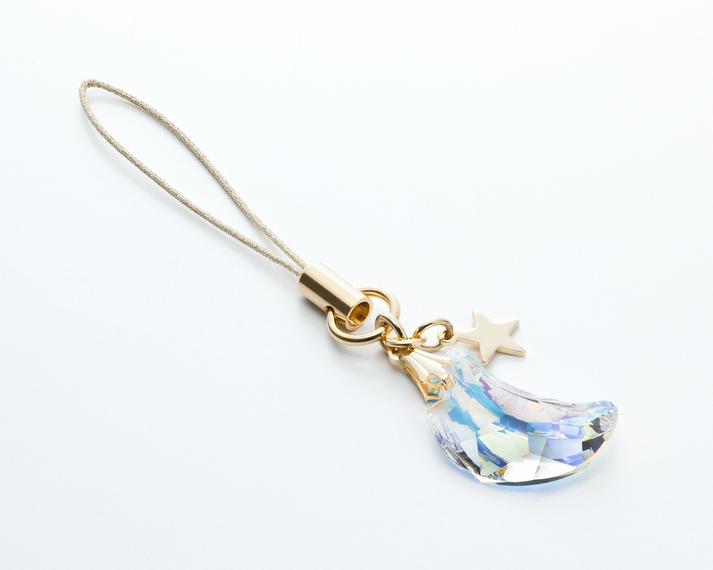 Cell phone Strap 031 crescent - Crystal Aurora (Gold Court) by Kisaragi (Image #6)