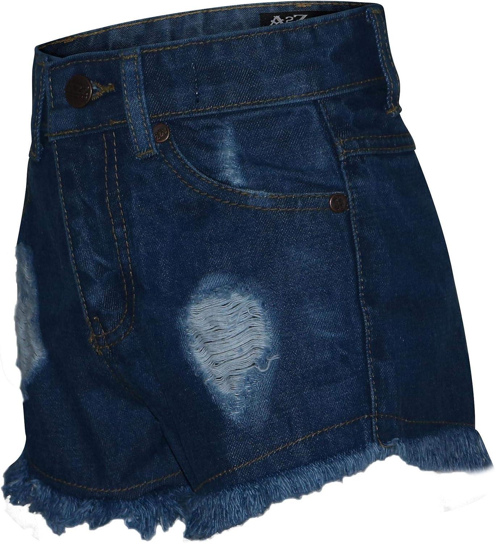 A2Z 4 Kids/® Bambini Ragazze Pantalocini Bermuda Magro Ripped Mid Blu Jeans Caldo Pantaloni Estate Denim Chino Pantalocini Casuale Ginocchio Lunghezza met/à Pantaloni et/à 3-13 Anni
