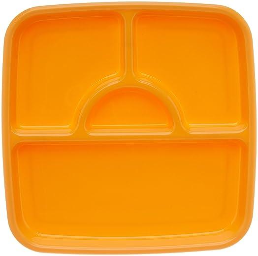 Signoraware Square Serving Thali, Orange Dinnerware & Serving Pieces at amazon