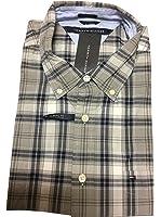 Tommy Hilfiger Mens Cotton Plaid Button-Down Shirt