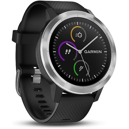 Garmin Vivoactive 3 Smartwatch con GPS y pulso en la muñeca Negro Plata M L