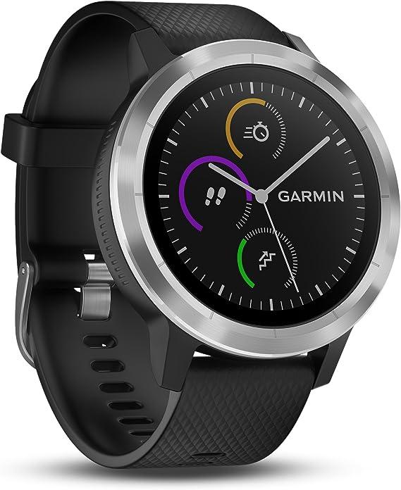 Garmin Vivoactive 3 - Smartwatch con GPS y pulso en la muñeca, Negro/Plata, M/L: Amazon.es: Deportes y aire libre