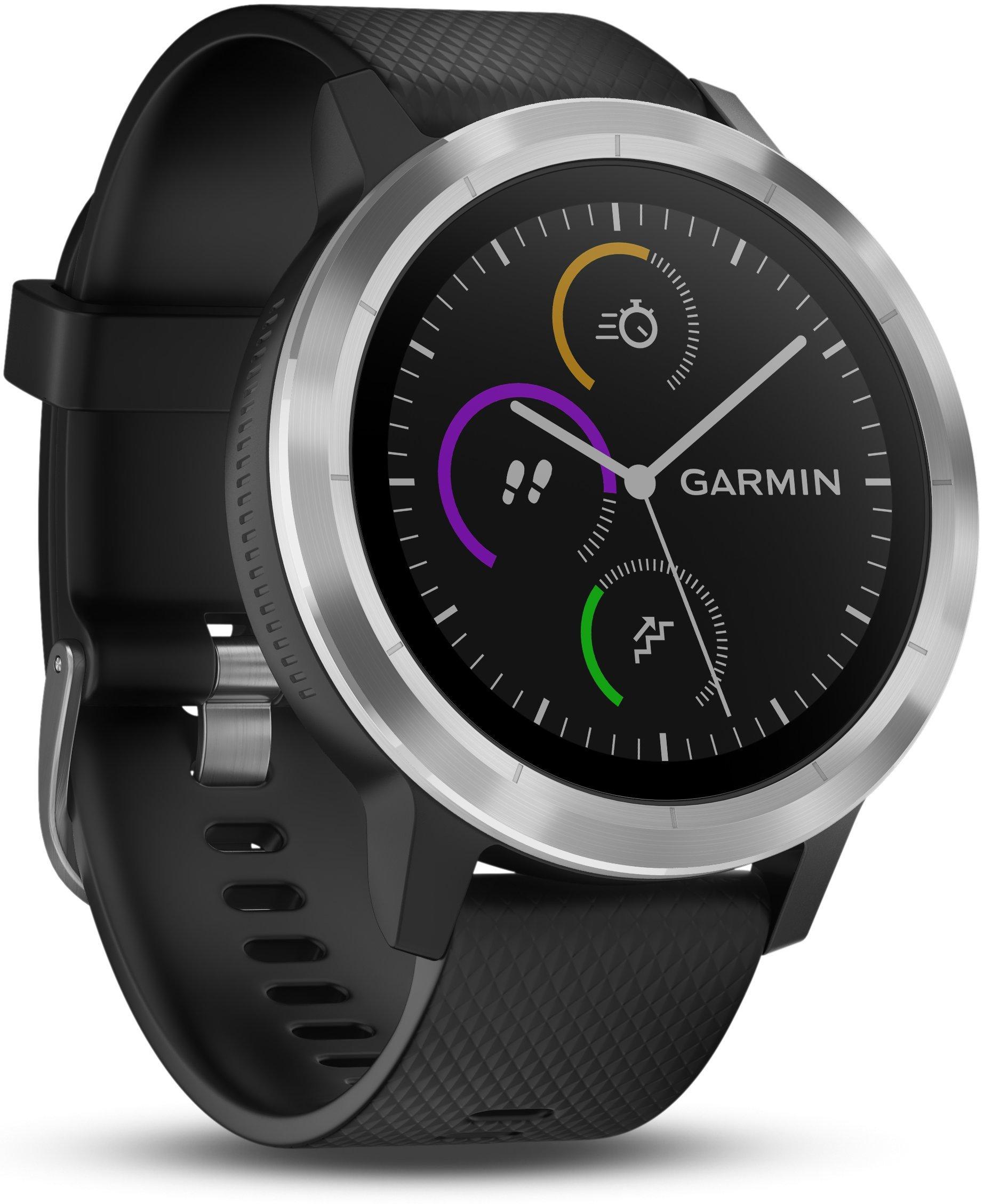 Smartwatch GARMIN Vivoactive 3 1,2'' GPS Waterproof 5 ATM Glonass Black Stainless Steel by Garmin