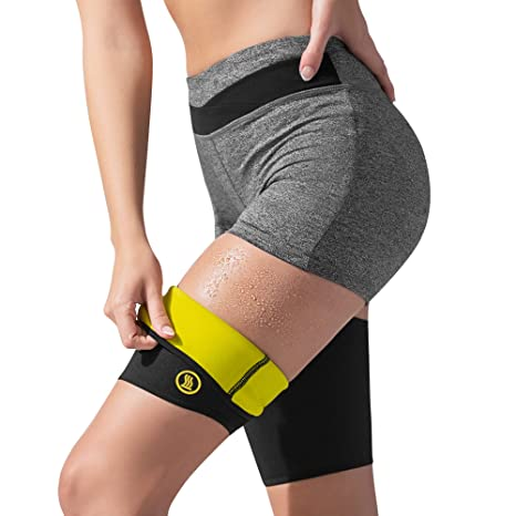 c3abd0fbed Hot Shapers Hot Leg Sleeves –Women's Compression Thigh Slimmer Sweat Bands