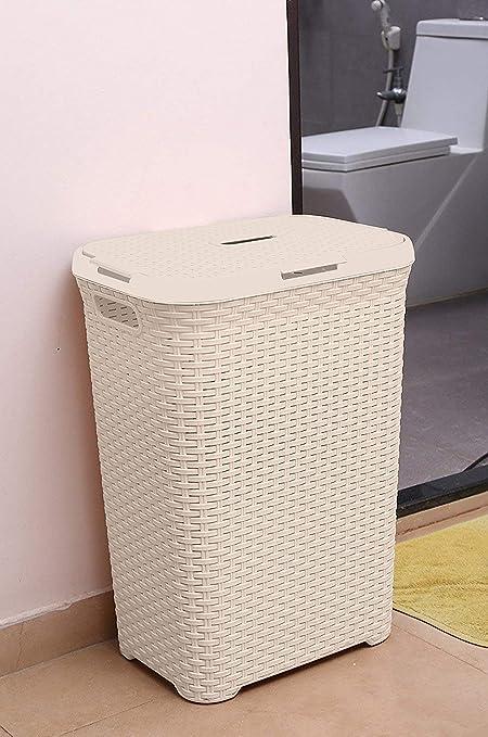 . Kurtzy Laundry Basket Bin Organizer For Clothes Kitchen Bedroom Bathroom  Storage  Ivory  Large Size