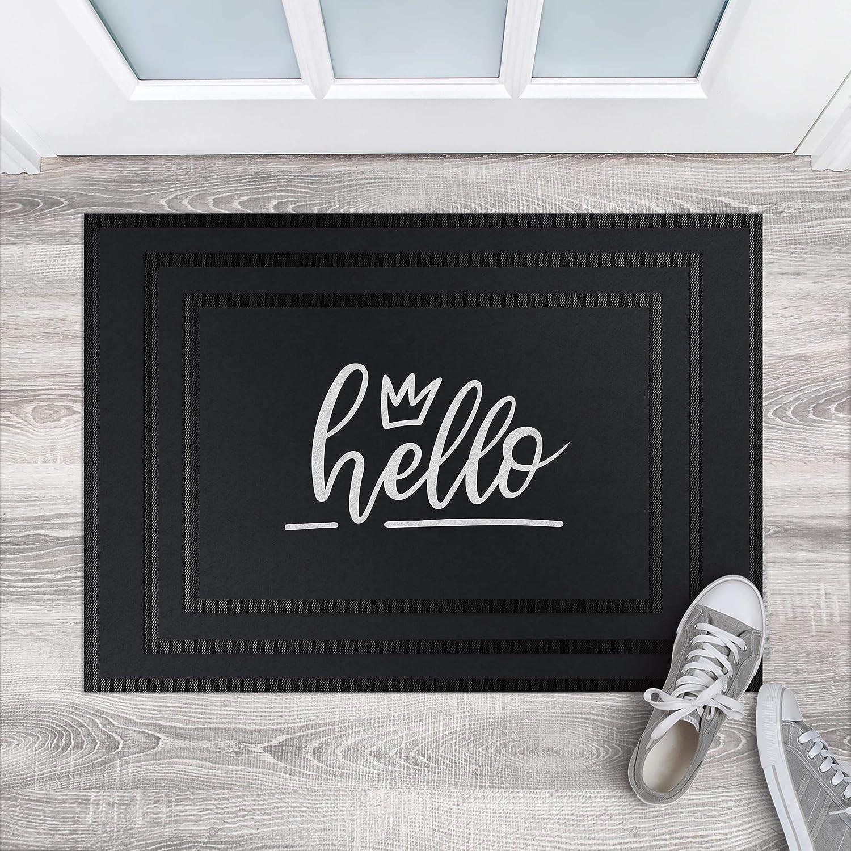 Fußmatte - Hello Handwritten, Größe HxB  50cm x 70cm, 70cm, 70cm, Florfarbe  Lagune B07K8G8N45 Fumatten af0de3