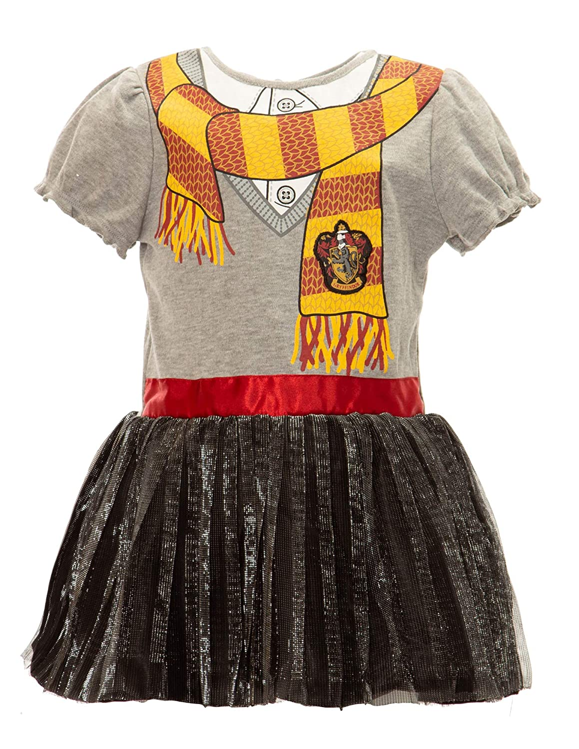 c48d16d3aade Amazon.com  Warner Bros. Harry Potter Girls  Hooded Costume Ruffle Dress  with Cape  Clothing