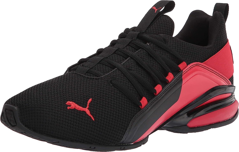 Tampa Mall PUMA Over item handling ☆ Men's Axelion Running Shoe Black-High 7.5 Red Risk