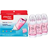 Playtex Baby Ventaire Anti Colic Baby Bottle, BPA Free, Pink, 9 Ounce - 3 Pack