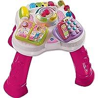 VTech - Mesita parlanchina 2 en 1, Juguete para bebes +9 meses, Mesa de actividades con panel extraíble, 6 zonas…