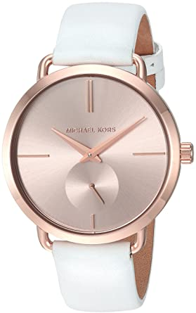 734df36964a4 Amazon.com  Michael Kors Women s Portia White Watch MK2660  Michael ...