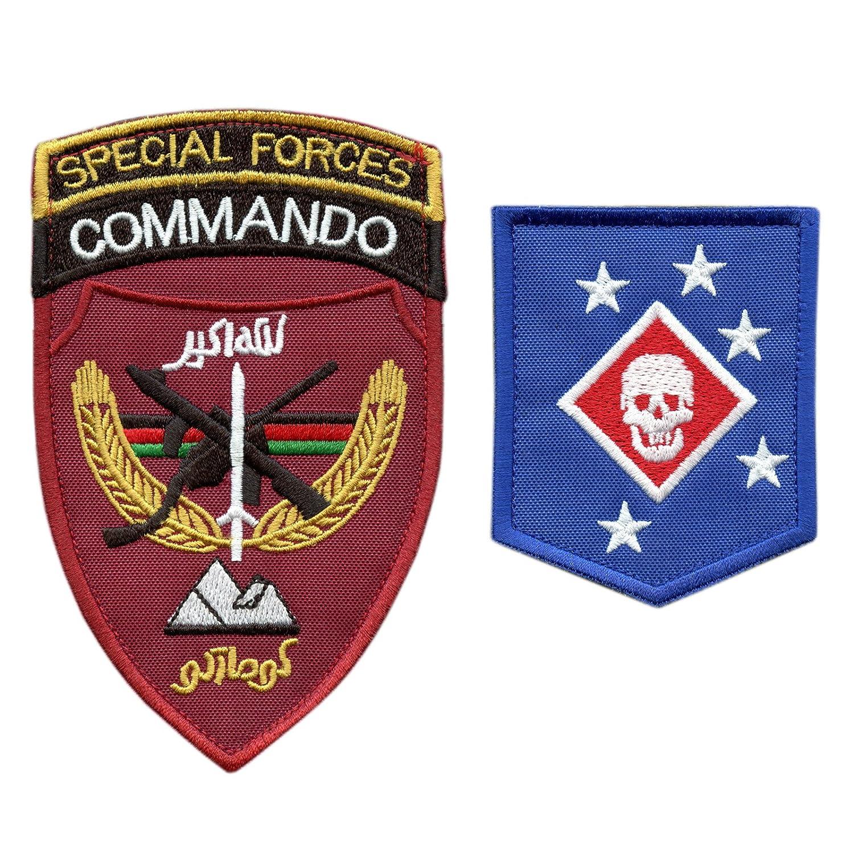 種セット 2 ベルクロ面ファスナー Patches アフガニスタン 特殊部隊 MARSOC USMC Raiders Army ANASF ANA   B01MCYIQGA