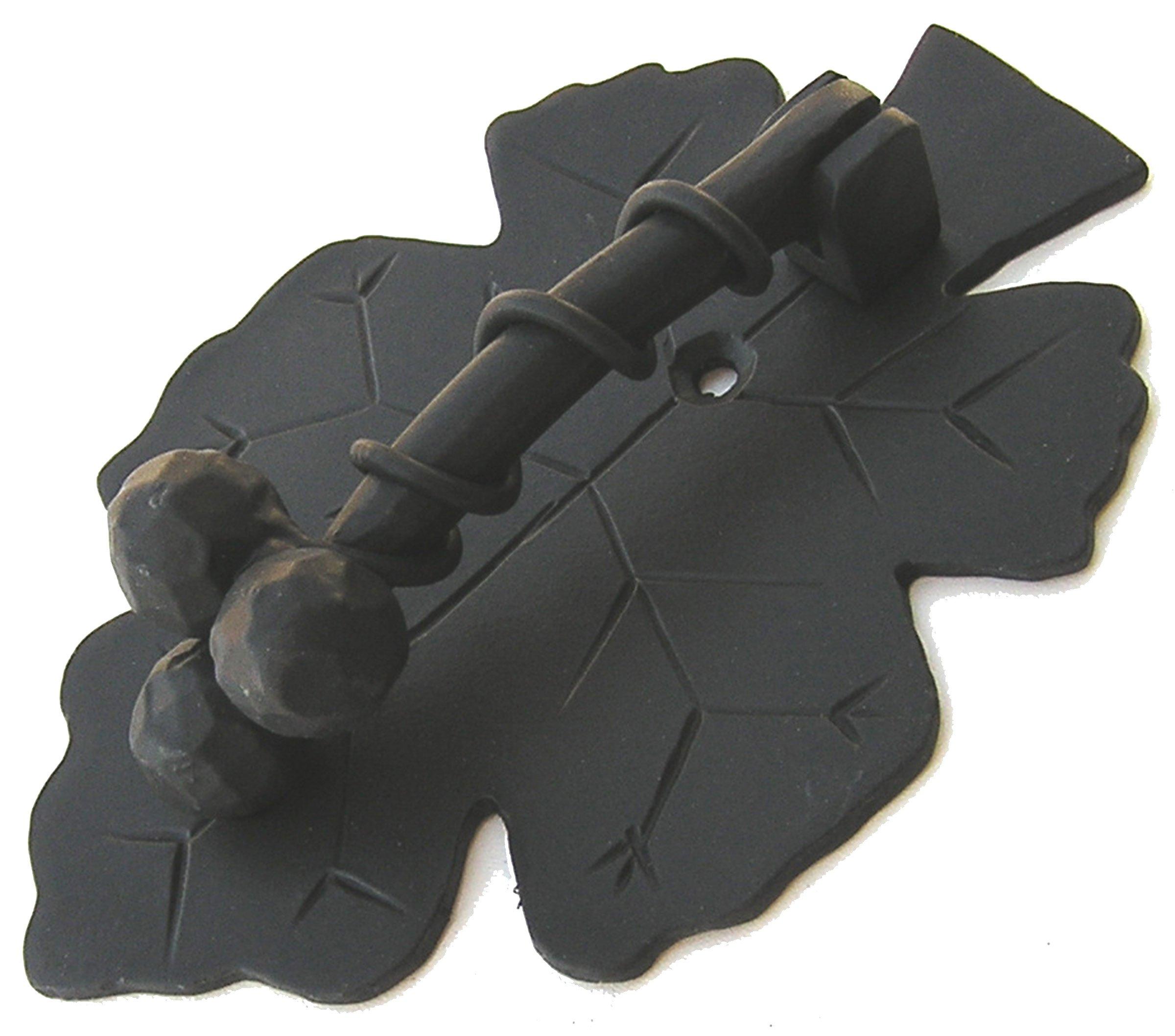 Agave Ironworks Grapevine Knocker, Flat Black Finish